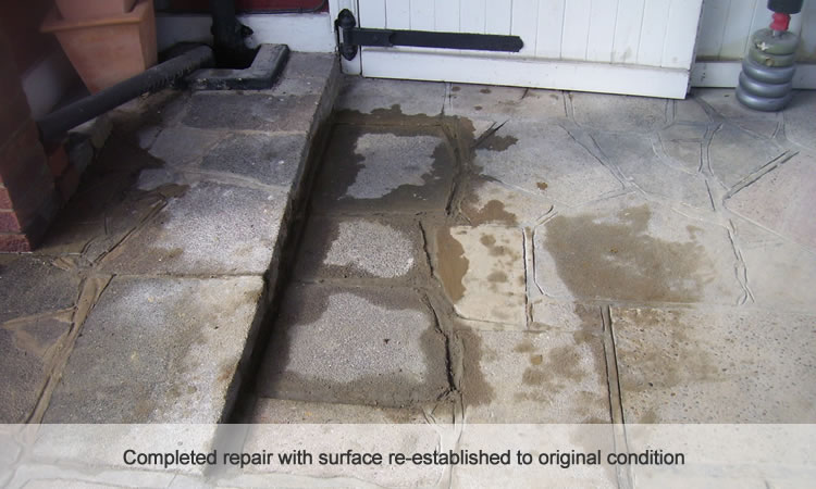 Tidy water mains repair
