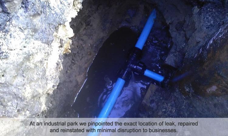 Industrial park water pipe repair