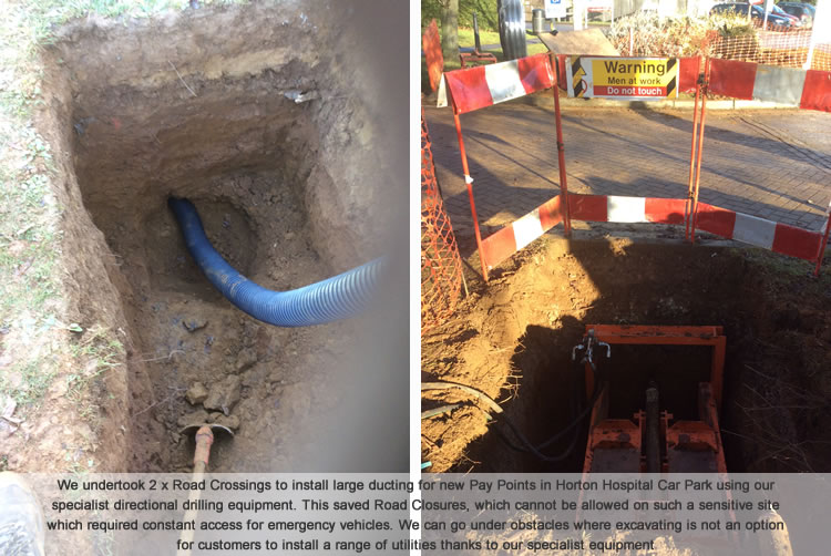 Directional drilling for water mains